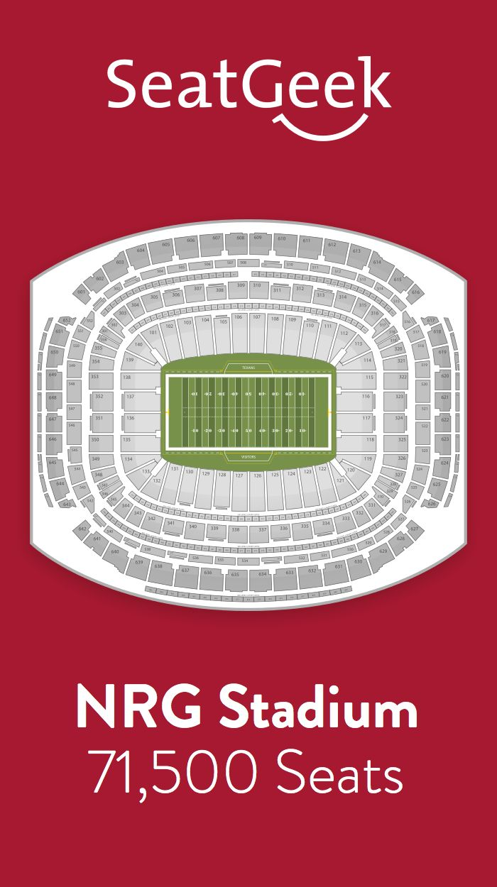 Find the best deals on Houston Texans tickets and know exactly where you'll sit with SeatGeek.