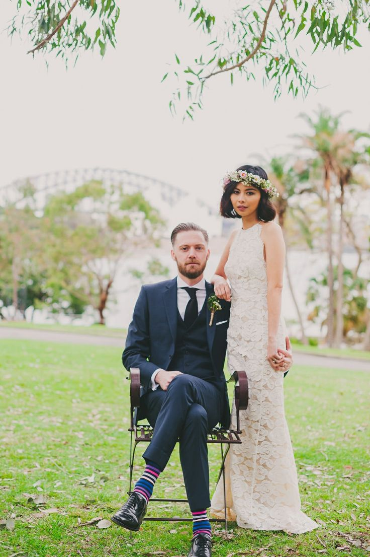 Sydney wedding | Sydney Botanic Gardens | Dress by Lover | Photo by Sutoritera www.sutoritera.com