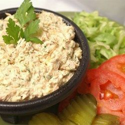 Barbie's Tuna Salad - Allrecipes.com  This was SO good! I normally don't like the fishy aftertaste of tuna, but this recipe completely eliminated it! I used ranch dressing instead of mayo and regular pickles instead of sweet pickle relish