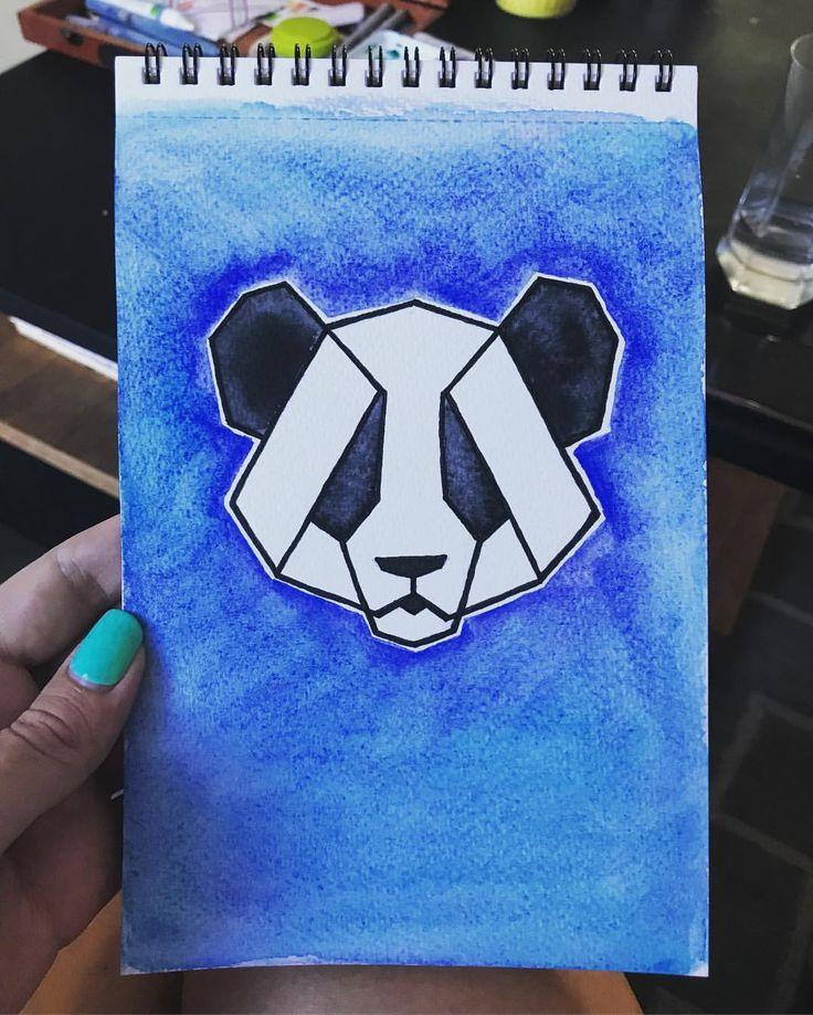 "14 Likes, 2 Comments - Maybloom Studio (@maybloomstudio) on Instagram: ""35/365 Feeling like something simple today, a pretty little panda. #365daysofart #paintingoftheday…"""