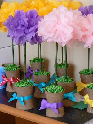 how to make mexican flowers with tissue paper