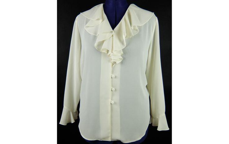 First Avenue krémszínű áttetsző blúz 46-os - Női ing, blúz - XLruha Molett használt ruha - tunika
