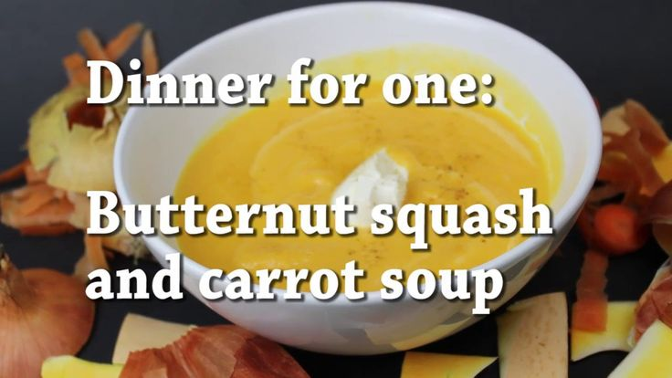 This is one of my favorite seasonal recipes. It is fast and uses mostly season veggies. Perfect for those autumn days. This recipe is healthy, cheap and super tasty. Don't let how simple it is fool you :)   Ingredients   -Half small butternut squash  -4 small carrots  -A small onion -A piece of garlic  -Little cream or coconut milk if you want it vegetarian  -Salt and pepper  -A bit of oil  Optional bouillon   Rest of the recipe in the description box
