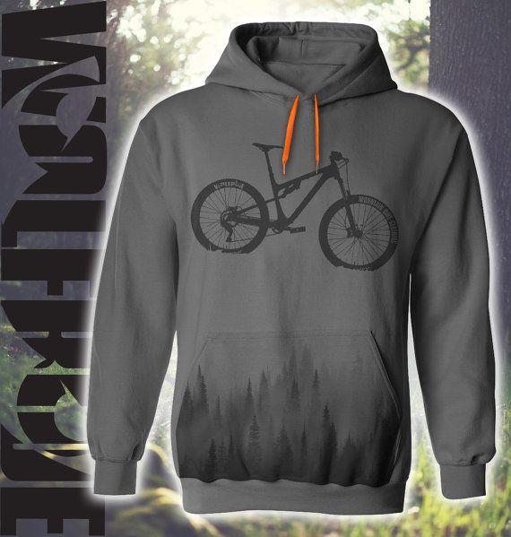 Bicicleta de montaña con capucha gris top sublimación
