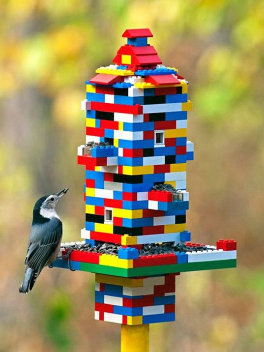 LEGO Brick Bird Feeder
