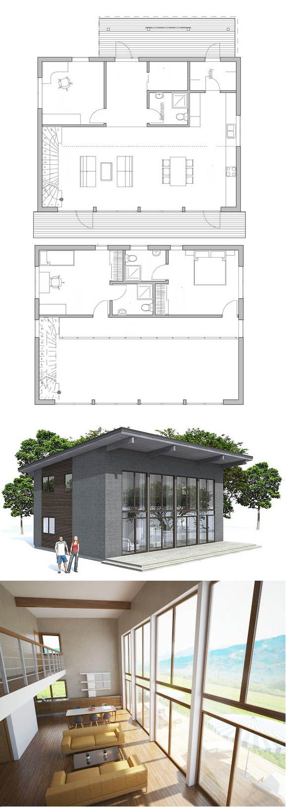Find this pin and more on casas econômicas modern house