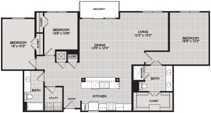 Floorplans C1 3 BEDROOM 2 BATH