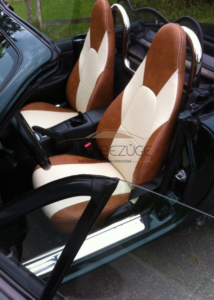 In den letzten Tagen ist wieder der Sommer unterwegs und genau das richtige Wetter um mit dem Cabrio unterwegs zu sein. So hatte es sich der Kunde dieses MAZDA MX5 auch gedacht. Der Innenraum sollte von uns zum Glänzen gebracht werden. Nun kann sich der Mazda MX5 wieder in der Sonne blicken lassen #designbezuege #designbezuege nach maß #Tuning, #Stickerei, #MAZDA, #Leder, #Autositzbezüge, #MX5