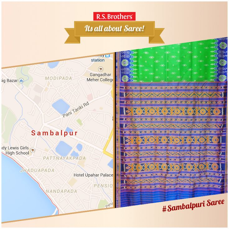 """Its All About #Saree – Sambalpuri Saree. #Sambalpuri Saree is a traditional handwoven saree, wherein the warp and the weft are tie-dyed before weaving. #Sambalpuri sarees are known for their incorporation of traditional motifs like shankha (shell), chakra (wheel), phula (flower), all of which have deep symbolism, but the highpoint of these sarees is the traditional craftsmanship of the 'Bandhakala', the Tie-dye art reflected in their intricate weaves, also known as Sambalpuri """"Ikkat""""."""