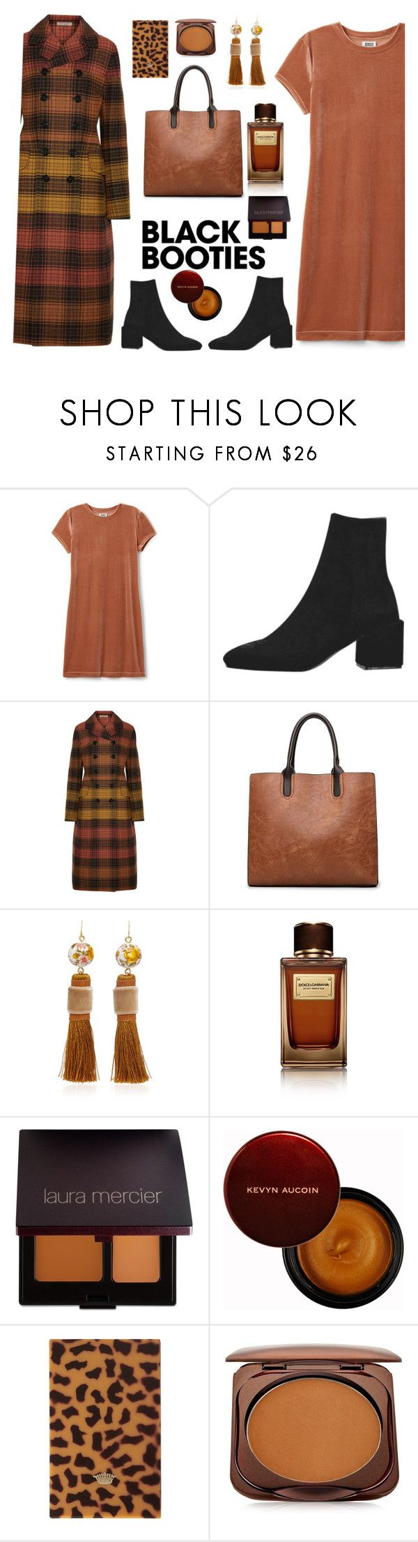 """Black booties"" by gul07 ❤ liked on Polyvore featuring Bottega Veneta, Mimilore, Dolce&Gabbana, Laura Mercier, Kevyn Aucoin, Sisley, Fashion Fair and blackbooties"