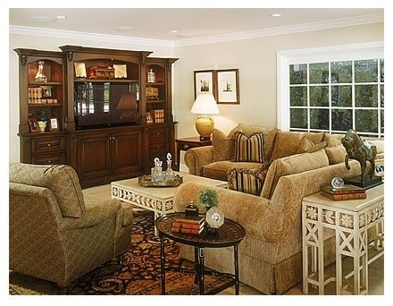 Traditional Family Room By Norman Design Group Inc