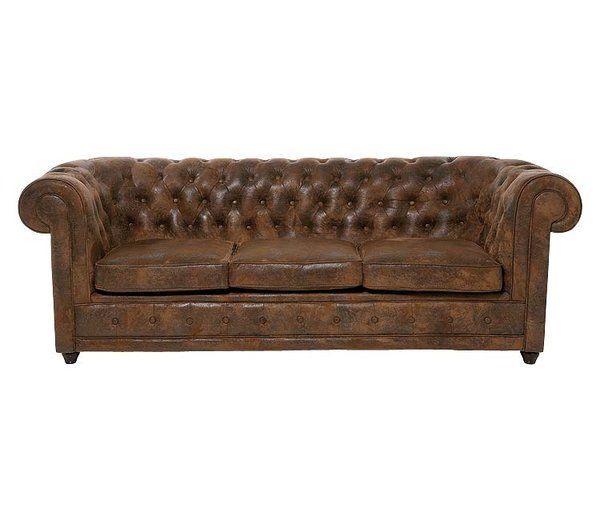 sofá chester de piel envejecida