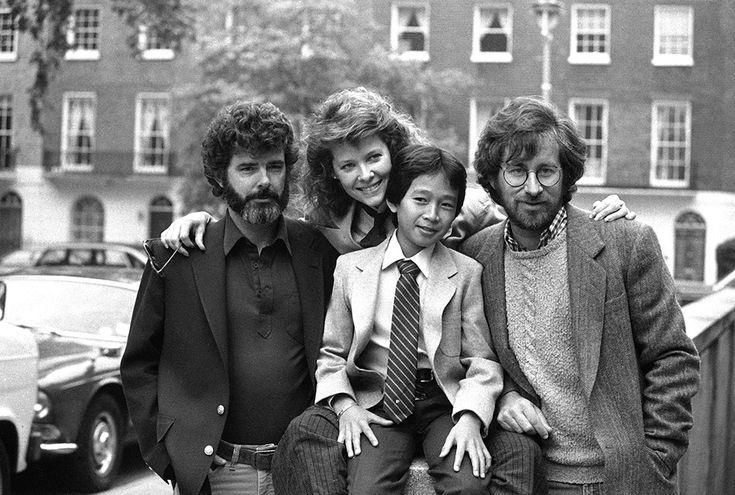 IlPost - Steven Spielberg, George Lucas, Kate Capshaw e Ke Huy Quan a Londra (AP Photo/Joe Schaber)  1984