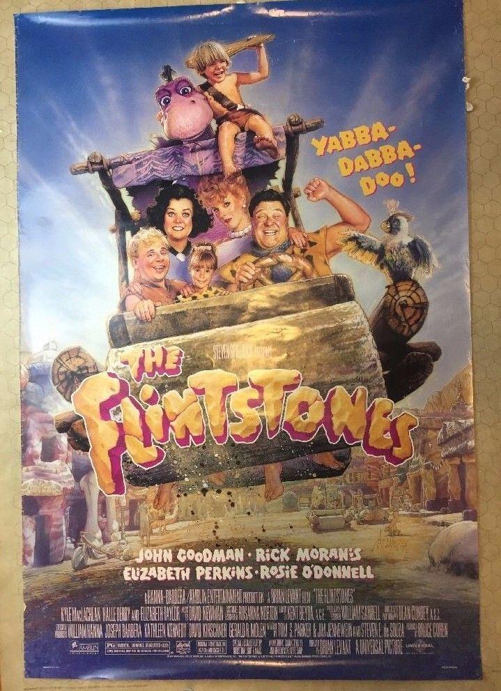 Vintage Flintstones Movie Poster Original 1994 Amblin Entertainment 40 inches