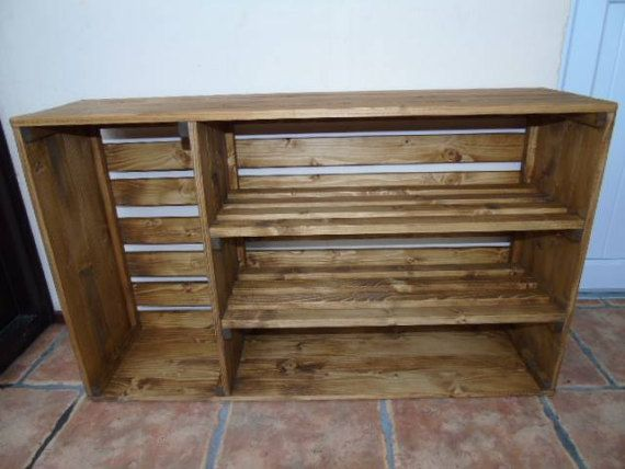Handmade Rustic Style Wooden Shoe Cabinet/Rack by RG73Woodwork