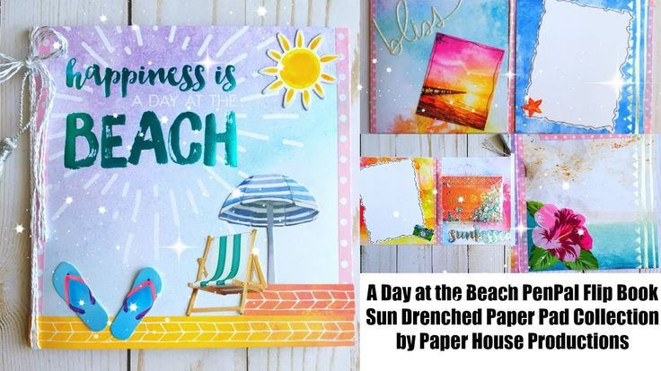 A Day At the Beach Penpal Flipbook | Sun Drenched by Paper House Product...
