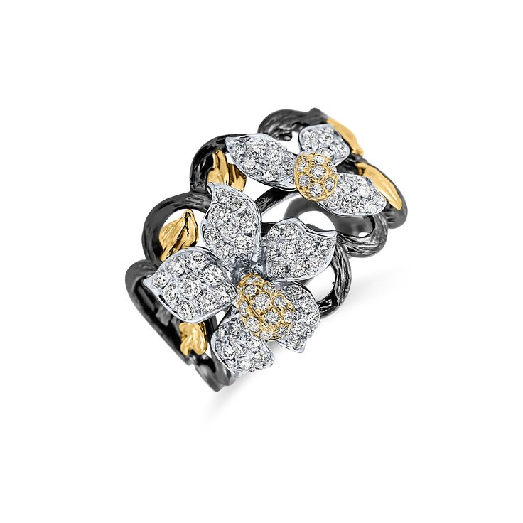 Ring Orchid Treasure www.alodiamonds.com www.alo.cz