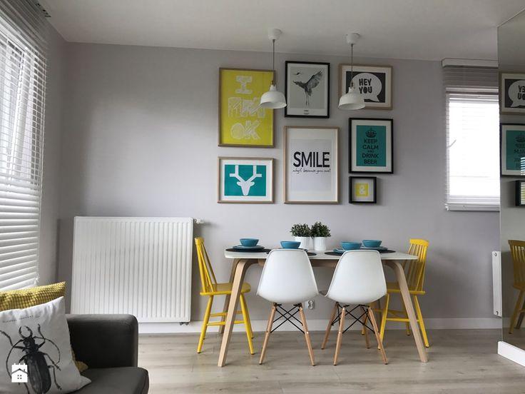 Metamorfoza mieszkania - od stanu deweloperskiego pod klucz - Jadalnia, styl skandynawski - zdjęcie od Architektownia