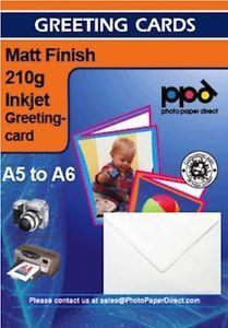 a a5 matt tarjeta de saludos papel fotografico 210 g con sobres x 50 hojas