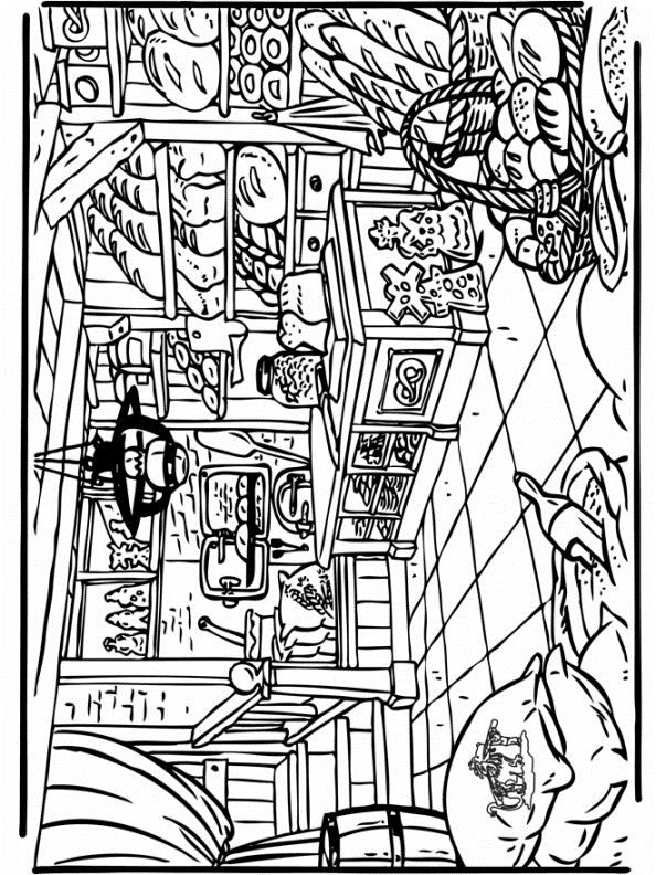 coloring page Bakery KidsnFun