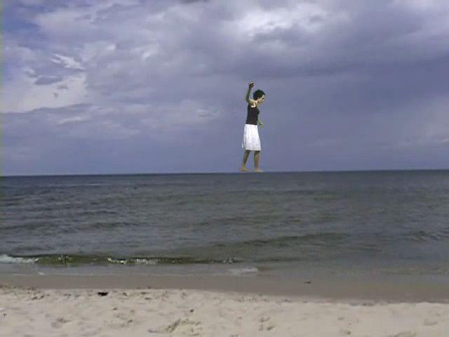 "shot taken from ""swimming lesson"" video, 2004, Magda Bielesz"
