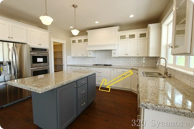 Kitchen Cabinets Different Colors Top Bottom : The kitchen home cooking spaces pinterest