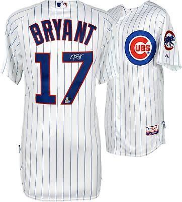 b4d9af1de Kris Bryant MLB Chicago Cubs Autographed White Authentic Jersey  Baseball