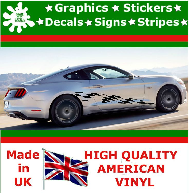 """10"""" High Car Side Stripes Graphic Decal Vinyl Stickers Van Auto Rally Race F1_36"""