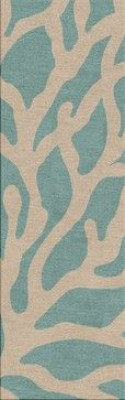 Coastal-Pattern Blue Indoor-Outdoor Rug - beach-style - Outdoor Rugs - Indeed Decor