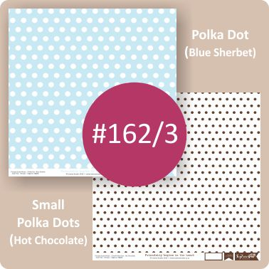 Polka Dot Blue Sherbet/Small Polka Dots Hot Chocolate