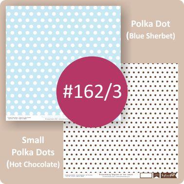 Polka Dot Blue Sherbet/Small Polka Dots Hot Chocolate