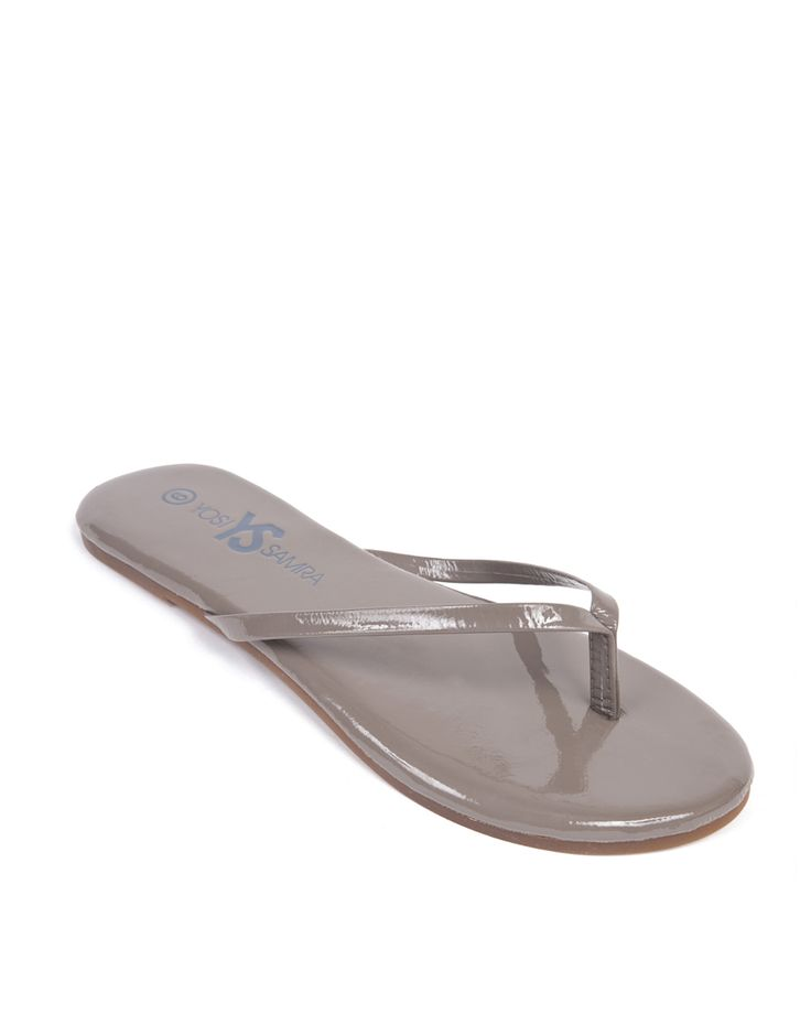 Love this Taupe Roee Patent Leather Flip-Flop - Women by Yosi Samra on