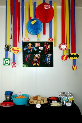 Circles Of Sunshine: Super Hero Birthday Party