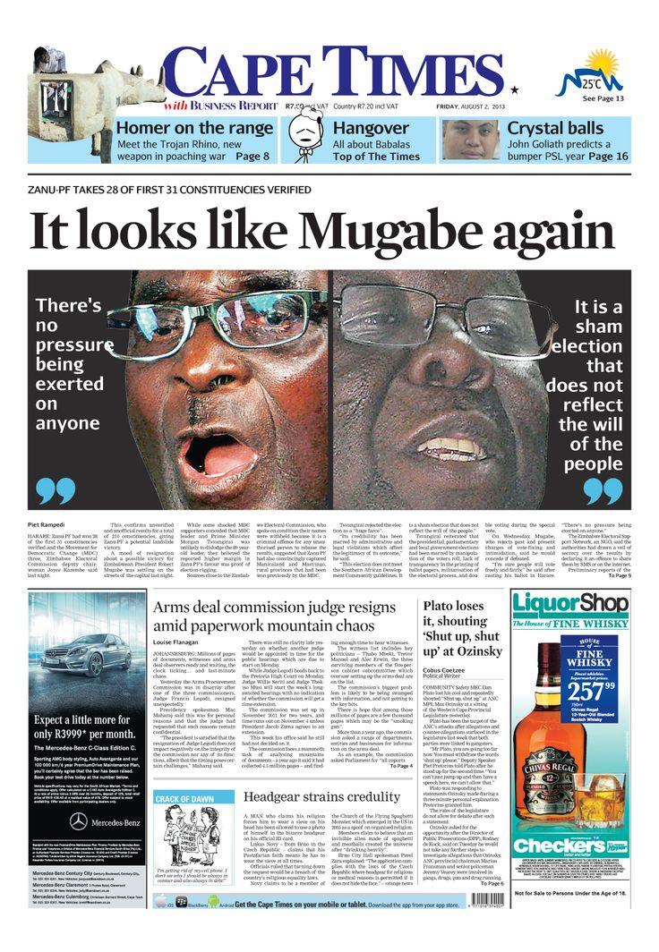News making headlines: Zim polls rigged, claims Tsvangirai