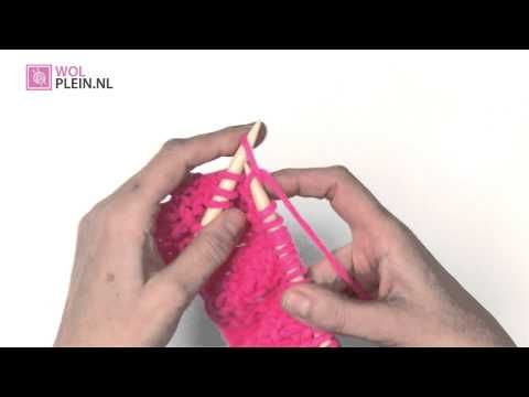 7. Gerstekorrel breien - Online breicursus van Wolplein nl - YouTube