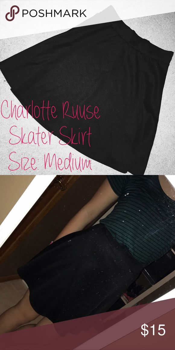 Charlotte Ruuse Skater Skirt Charlotte Ruuse skater skirt. Can be worn with thousands of things, for many occasions! Only wore once maybe twice. In great condition! (Don't mind the dirty mirror) Offers are welcomed! 💛 Charlotte Russe Skirts Circle & Skater
