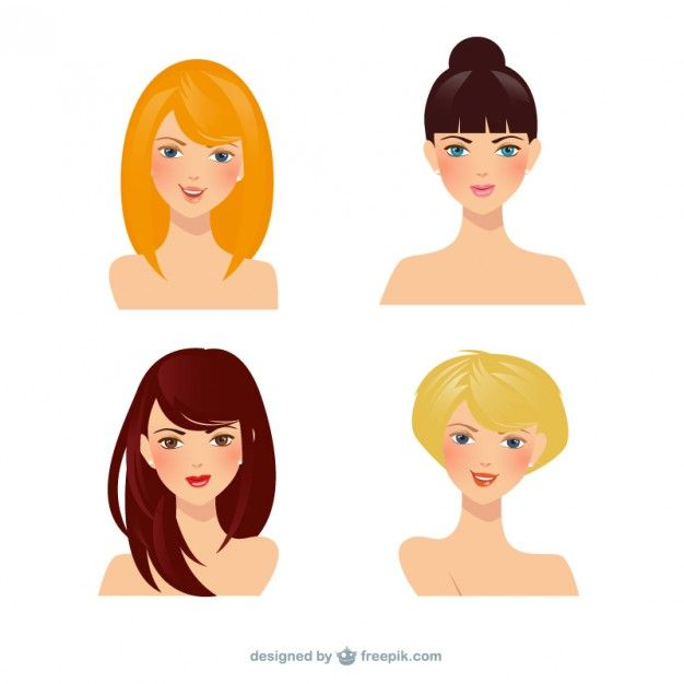 Beautiful women Free Vector