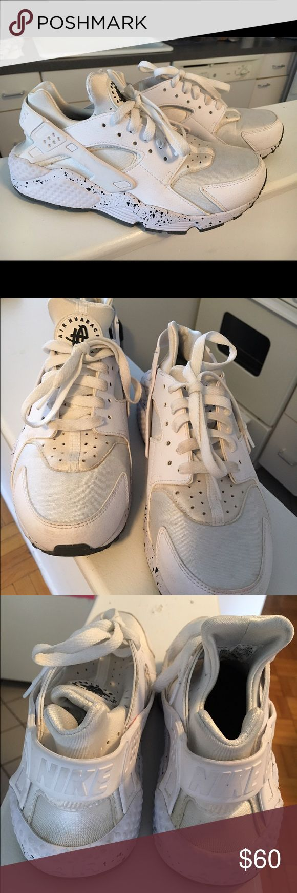 Nike Air Huaraches (Women's) Nike Air Huarache Premium ID. All white with speckled sole. Very comfortable and unique. Only worn a few times. Very good condition. Nike Shoes Sneakers