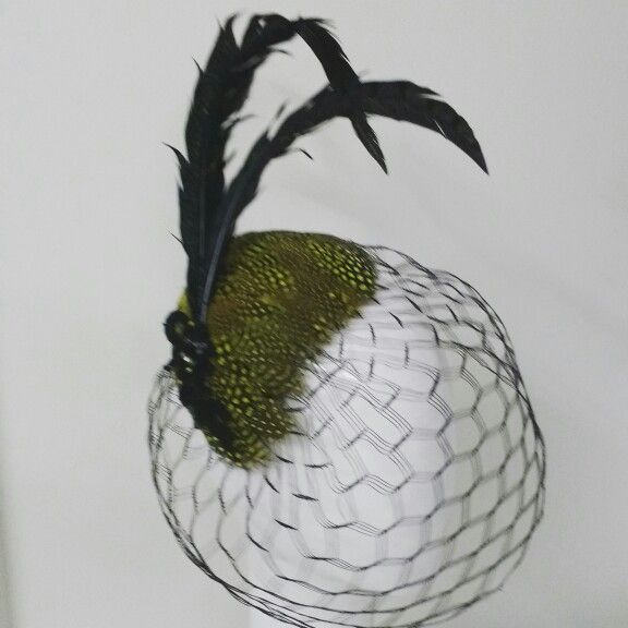 Vintage inspired feather cocktail piece by Wendy Louise for Belle Folie