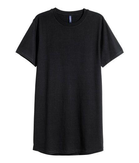 Lang T-shirt i jersey. Str. XS
