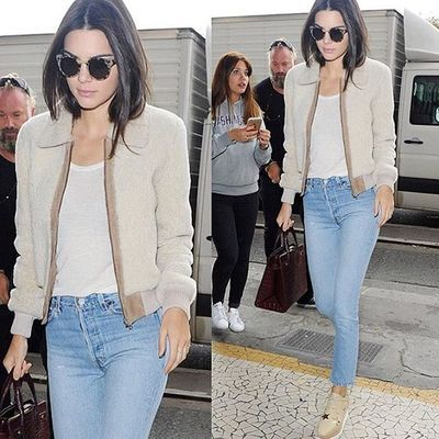 Spotted @kendalljenner in @shopredone denim and @stellamccartney shoes. Both available in store! Call 310-230-8882 ext 20 and ask to speak to Aja. #elysewalker