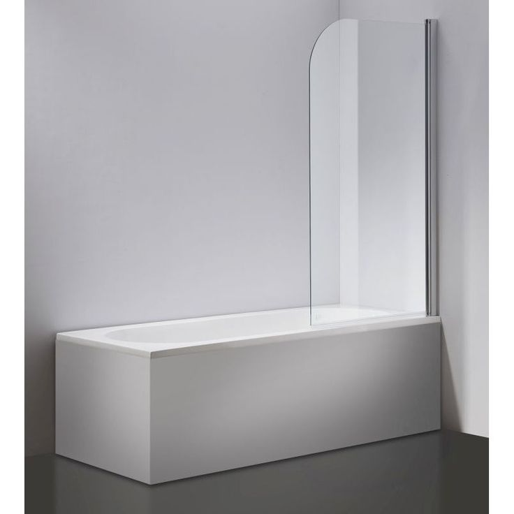 Frameless Pivot Glass Bath Panel Screen 800x1400mm   Buy Bath Screens