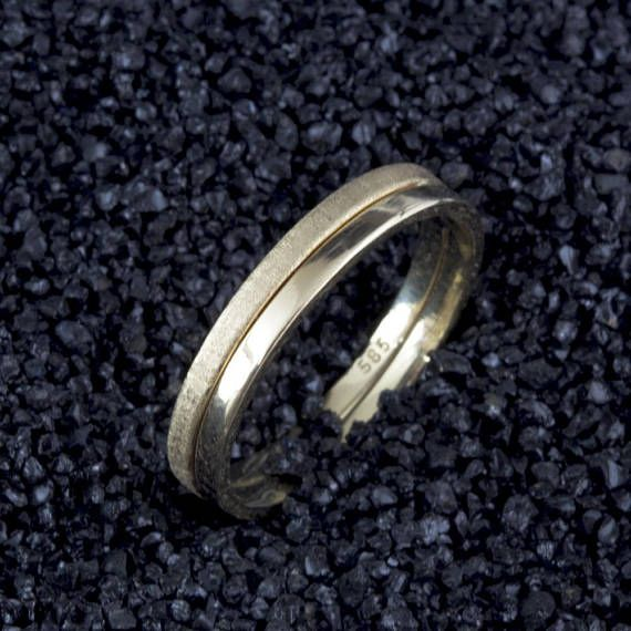 Ad This 4mm 10 Karat Yellow Gold Heavy Tapered Ladies And Mens Wedding Band Is A Classic This Ring Is Mens Wedding Bands Wedding Men Mens Wedding Band Sizes