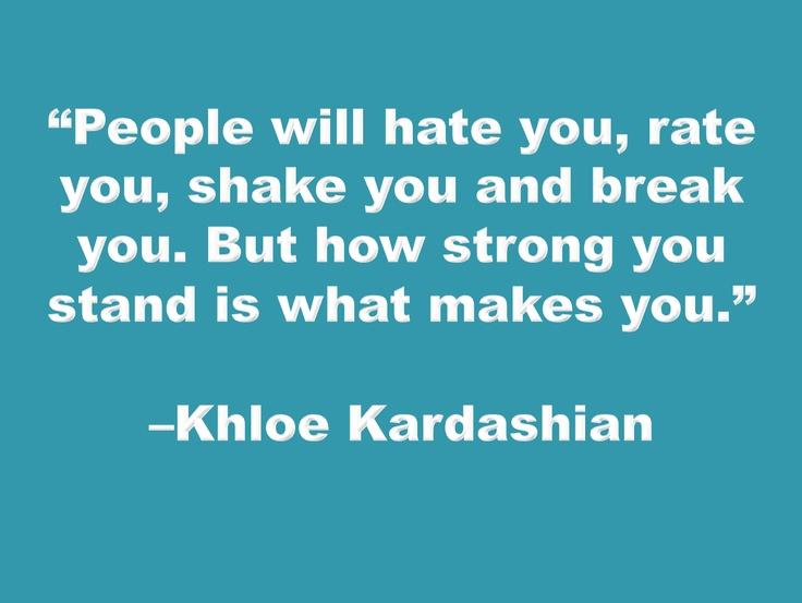 Khloe Kardashian is so strong!