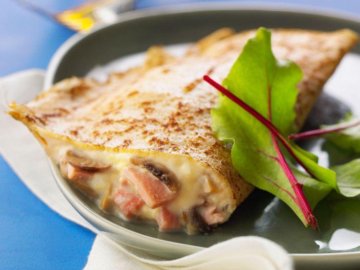 Découvrez la recette Crêpe jambon champignon sur cuisineactuelle.fr.