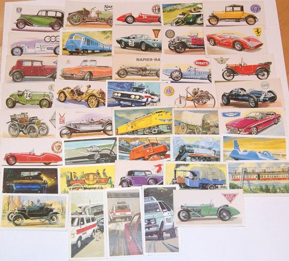 Lot of 40 Transportation Tea Cards Vintage Brooke Bond for scrapbooking collage altered art crafts by scrapitsideways, $6.00