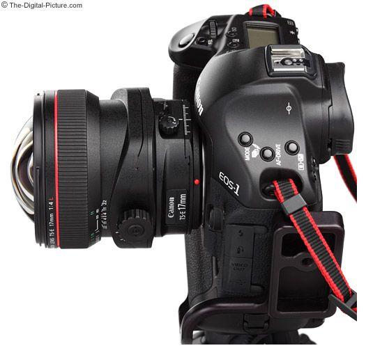 Canon TS-E 17 mm f4.0 L Tilt-Shift Lens on Canon EOS 1-Series DSLR Camera.