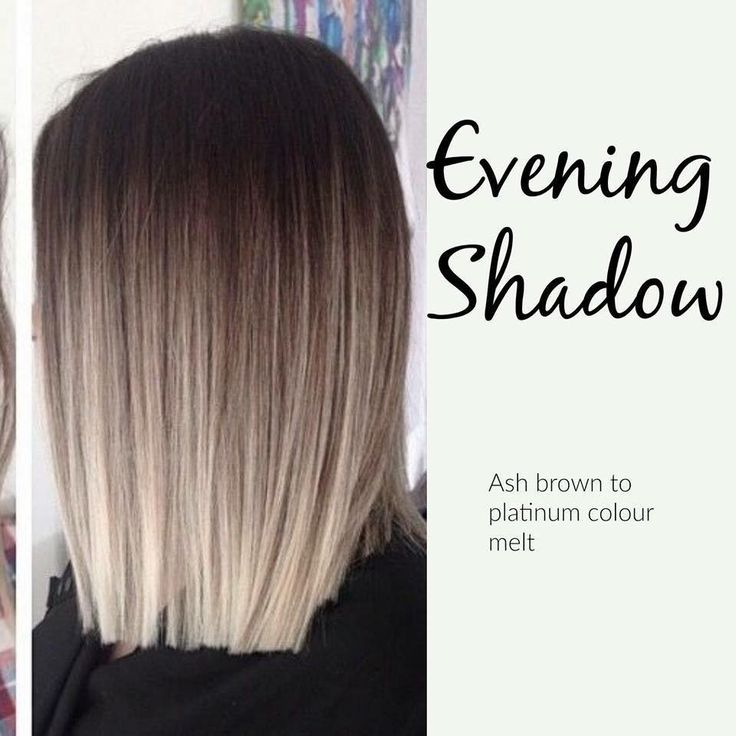 Evening Shadow Cool toned Colormelt-Ash brown base with platinum.