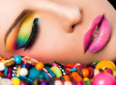 Candy colored makeup - Good for certain photo shoots