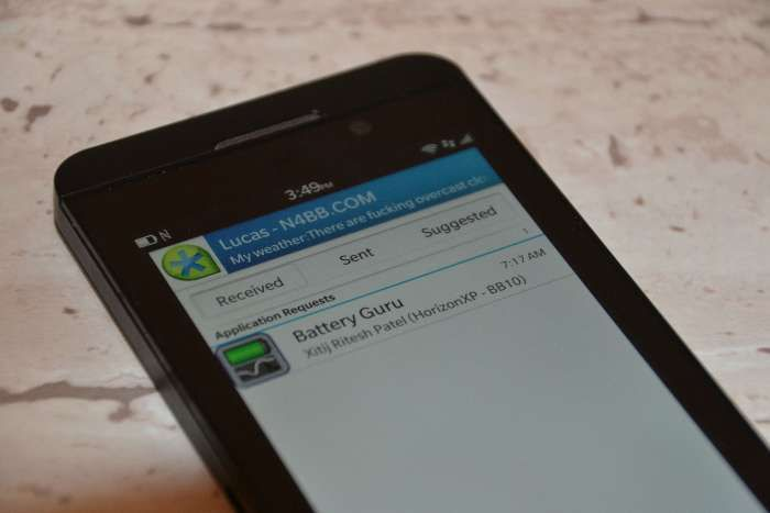 How to Block BBM Invites for Apps You Already Have on BlackBerry 10
